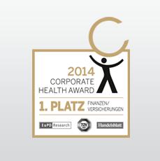 targobank online-classic-karte-Corporate Health Award 2014 1. Platz