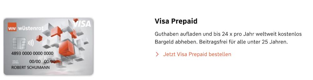 Wüstenrot Visa Prepaid Beitrag