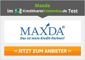 Maxda Mastercard Gold Kreditkarte