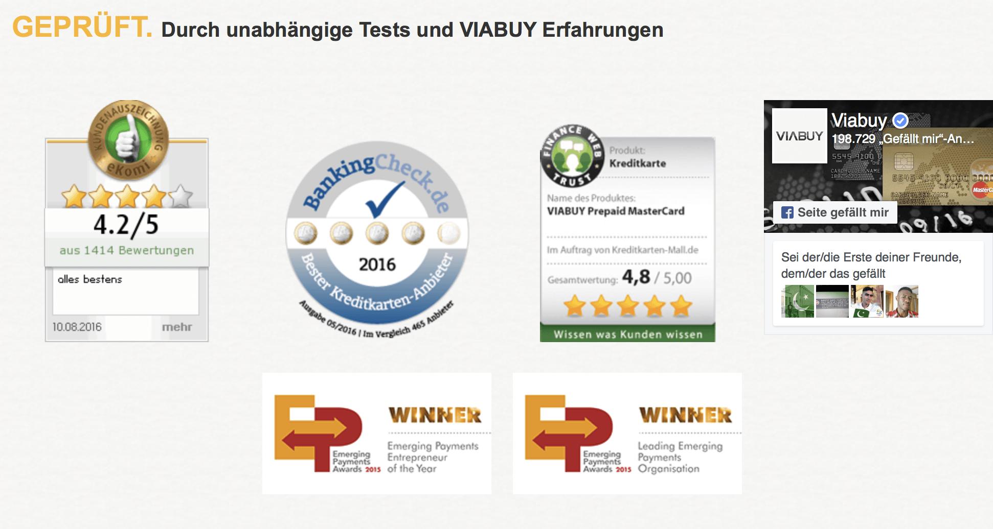 VIABUY: Im Rahmen unabhängiger Tests geprüft.