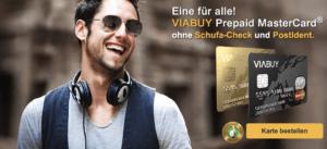 VIABUY bietet eine MasterCard auf Guthabenbasis.
