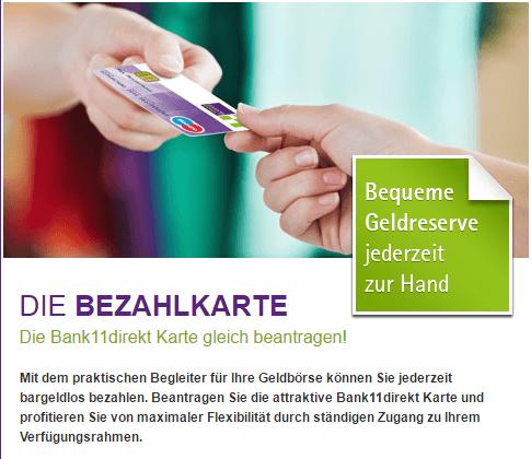 Bank11 Bezahlkarte