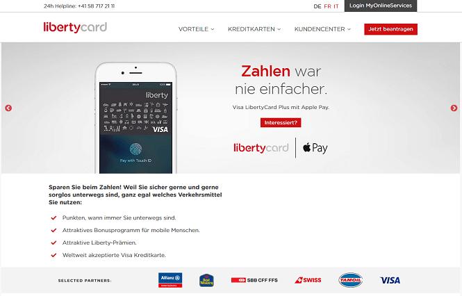 LibertyCard Homepage