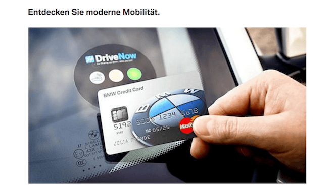 BMW Credit Card DriveNow