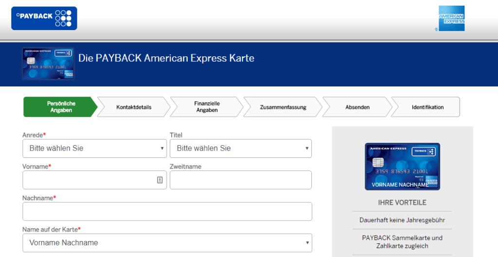 amex payback karte beantragen