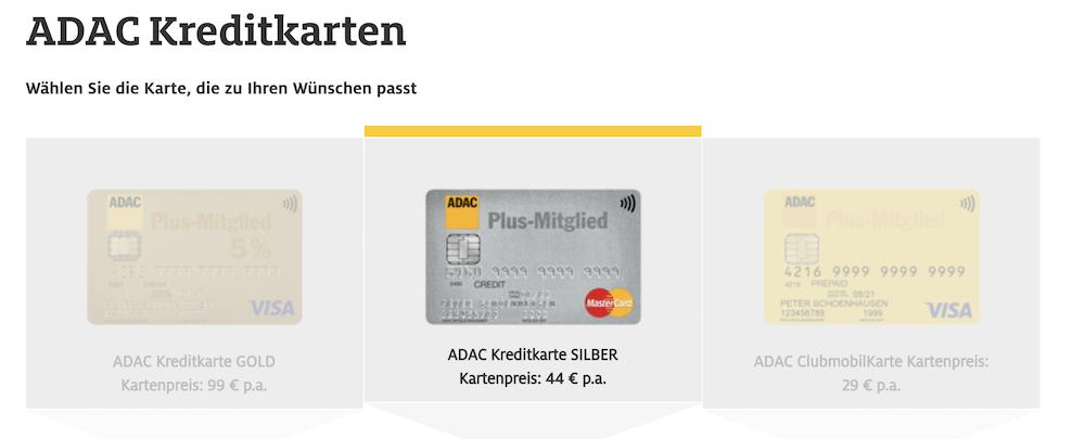 ADAC Kreditkarten