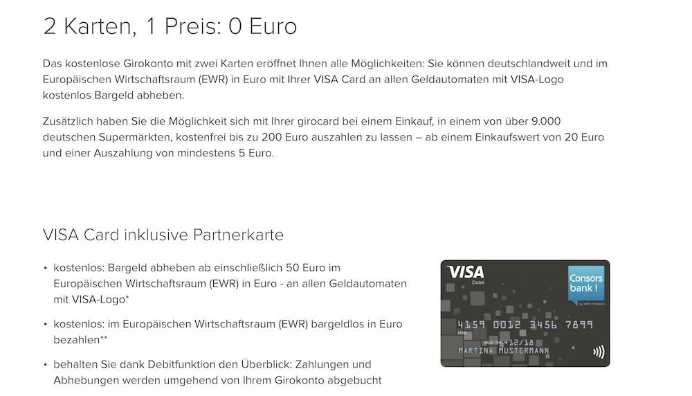 Consorsbank Partnerkarte