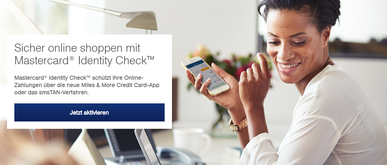 Shoppen Sie sicher online mit der Miles & More Mastercard