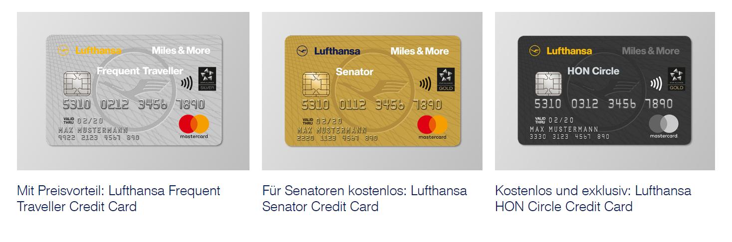 Die Premium Kreditkarten bei Miles & More