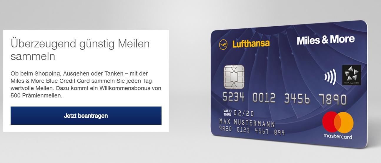 Sammeln Sie günstig Meilen mit der Miles & More Kreditkarte