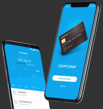 Cryptopay Kreditkarte virtuell